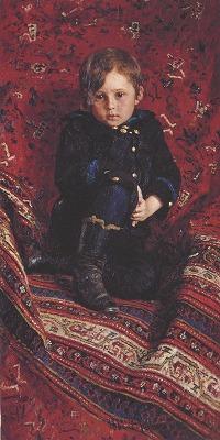 少年ユーリー・レーピンの肖像
