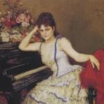ピアニスト、ゾフィー・メンターの肖像